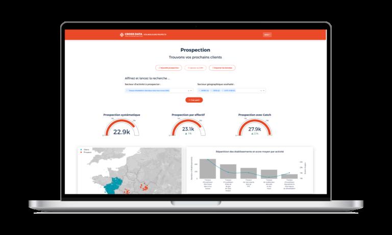 Cross Data Catch, solution de prospection commerciale par l'intelligence artificielle.